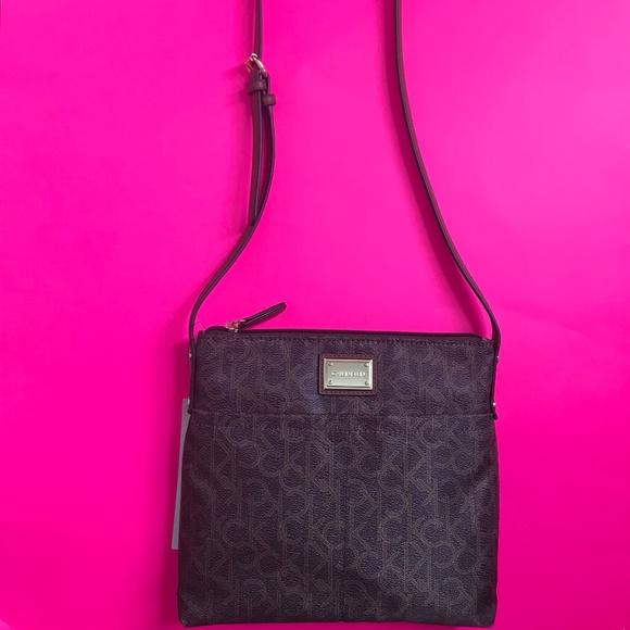 ✨💕NWT Brown Calvin Klein crossbody purse bag ✨